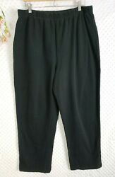 Coldwater Creek 1x Black Pants Comfort Pull On Lounge Womens Stretch Flattering