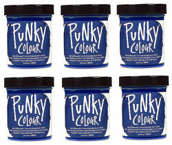 6 X Jerome Russell Punky Colour Semi-permanent Hair Color Midnight Blue - 1414
