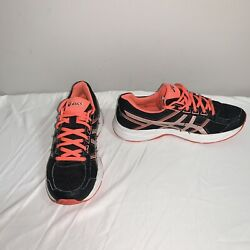 Asics Gel-contend 4 Womenand039s Shoes Size 6.5 Black/silver/flash Coral T765n