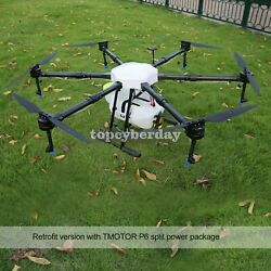 6axis Agriculture Drone 1650mm Load 16kg T-motor P80 Split Power System 2021