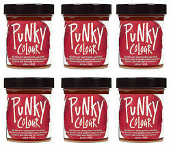 6x Jerome Russell Punky Color Semi-permanent Hair Color Poppy Red - 1420