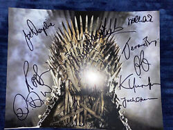 Game Of Thrones Cast Signed Autographed 8x10 Photo Kit Harington Peter Dink Coa