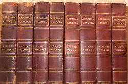 Old Leather Set Abraham Lincoln 1905 Complete Constitutional Edition Rare War