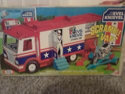 Vintage 1973 Ideal Evel Knievel Scramble Van With Original Box And Accessories