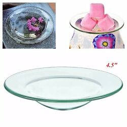 Wax Burner Dish 4.5 Replacement Round Glass Tray Electric Lamp Oil Warmer Plate