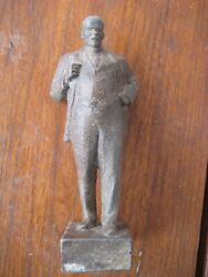 Old. Metal Figurine Statue. Lenin A Copy Of The Cherkasy Monument.ussr.