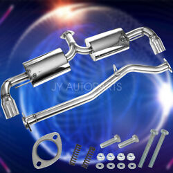 3.5dual Wall Tips Stainless Steel Exhaust Catback System For 04-11 Mazda Rx8