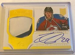 Nathan Mackinnon 2013-14 Panini Dominion Peerless Patches Rookie Patch Auto /50
