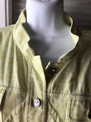 Cool Christopher Banks Green And White Le Shopping Jean Jacket Xl Stylish Buttons