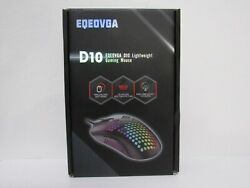 Eqeovga D10 Lightweight Gaming Mouse Wired - Black Pmw3325