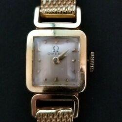 Beautiful 18k Antique Gold Omega Manual Watch. Very Small.square.good Condition.