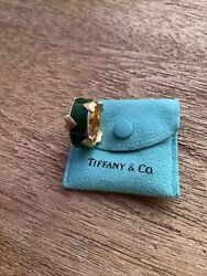 Vintage Ring Eternity Band And Co Schlumberger Gold Hearts Enamel