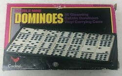 Cardinal 55 Pc Double Nine Catalin Dominoes Set 511 New In Box W/case Table Gam