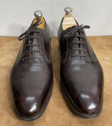 Bespoke John Lobb Leather Oxford Brown Dress Shoes Men's 10.5 Made In England