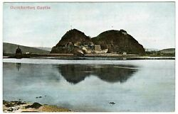 Edwardian Early 1900's Postcard Dumbarton Rock Castle And River Clyde Unposted