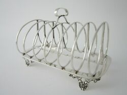 Provincial York Antique Silver Toast Rack - 1836 By James Barber And William North