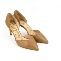 Sam Edelman Womens Telsa Brown Leather Stiletto Heel Pumps Pointed Toe Size 8.5 $29.74