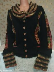 Save The Queenmarco Fantini.button-down Cardigan.made In Italy.size L.