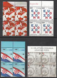 Croatia - Four Block Of 4 - Mnh - 3 From 2020 , One 2009