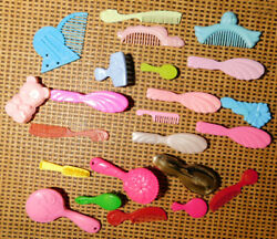 Barbie And Fashion Doll Hair Brushes And Combs Lot - Many Vintage
