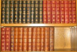 Leather Set Library Of Classics 30vol Complete Encyclopedia Literature History