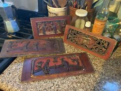 Chinese Carved Wooden Panels From Bed -- 4 Varieties -- Your Choice
