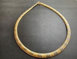 Gold Necklace Omega 44cm 17.3 40.8 Grams 14ct Valued 8800aud + Certificate