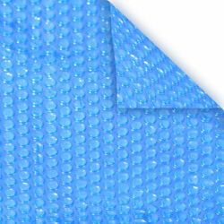 20and039 X 40and039 Rect. 8 Mil Blue Heavy Duty Swimming Pool Solar Blanket Heater Cover