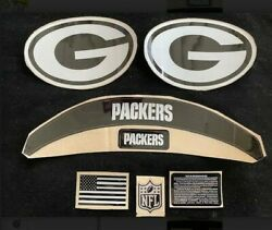 Green Bay-packers-black Ice Out Speed Complete Decal Set.