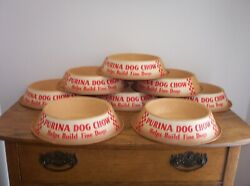 Vintage 60s Purina Dog Chow Food Bowl Old Promotional Pet Food Advertising