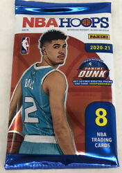 20-21 Panini Nba Hoops Pack Lamelo Ball Rookie Auto Hobby Pack Free Shipping