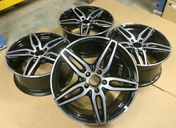 Set Of 4 Genuine Oem Mercedes Cla And A Class W176 Amg 18 Alloy Wheel Rims Black