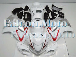 White Silver Fairing Injection Fit For 2008-2018 Gsx-r 1300r 2009 2010 2011 Jai
