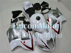 White Silver Complete Abs Injection Fairing Kit Fit For 1997-2007 Gsx-r 1300 Uak