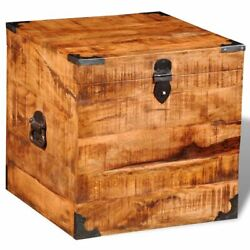 New Rough Mango Wood Blanket Toy Storage Chests Boxes Trunks Home Decor