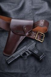 Genuine Leather Holster For The Tokarev Tt Pistol With Personalization