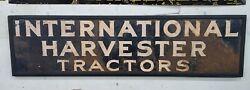 Ih Tractors Vintage Collectabke Agriculture Sign Farm Implement