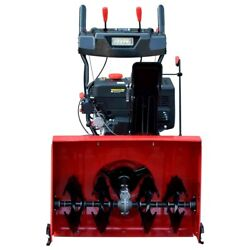 Petrol Snow Thrower 2 Stage Blower Plough Machine Patio Driveway Path Cleaner Uk