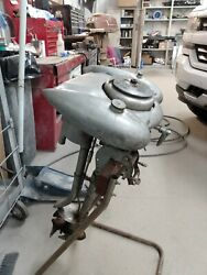 Vintage Waterwitch Sears Outboard Motor 1937 Model Mb Serial 571-10 Water Witch