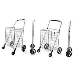 Grocery Shopping Cart With Swivel Wheels Medium Size And Large Size
