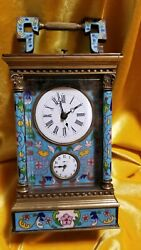 Antique Champleve Mantle Carriage Clock