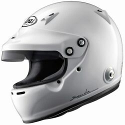 Arai Gp-w Helmet Rally Race Racing White Sport Protect Fia 8859 Snell Approved