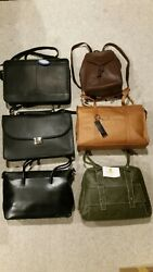 Lot of 6 Leather Bags New and slightly used items from store display. $109.00