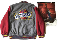 Cleveland Cavaliers Jh Design Wool Leather Jacket Large - Free Poster Lebron