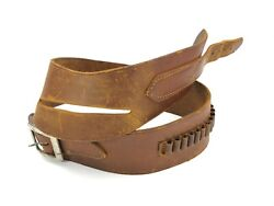 Brauer Bros Leather Cowboy Ammo Belt 35-38 For Pistol Holster 5101-lx