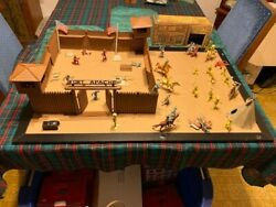 Fort Apache Playset, By Marx Toy Company, Vintage 1960's, Cowboys, Indians