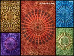 Mandala Design Small Poster Wall Hanging Tapestry Cotton Table Cover Bohemian