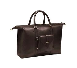 Heritage 1926 Duffle Brown Holdall Travel Bag Leather 116815 Italy New