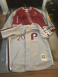 Phillies Mitchell Ness Jacket And Mike Schmidt Jersey