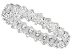 2.42ct Diamond And 18ct White Gold Full Eternity Ring Vintage Circa 1980